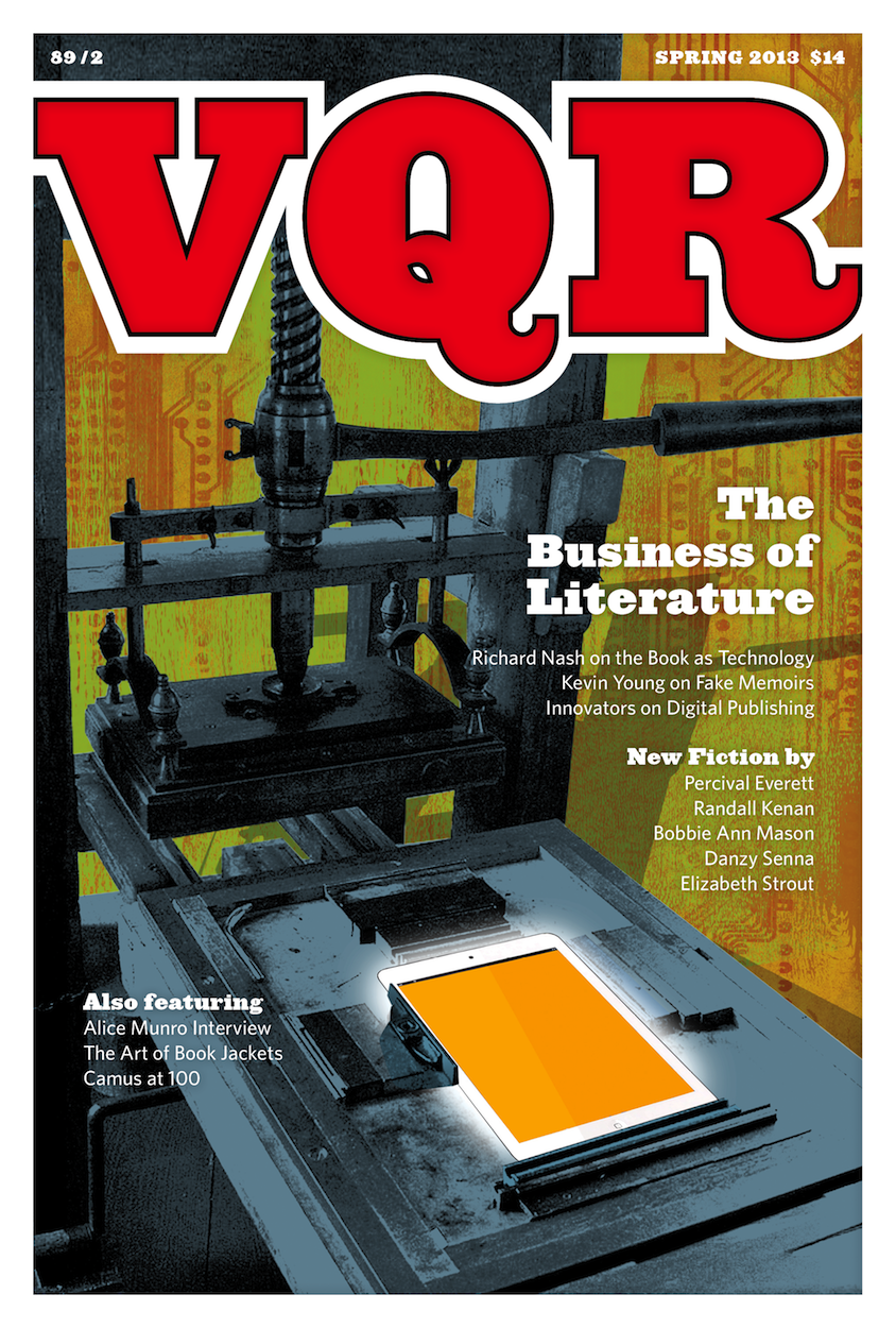 Magazine Cover - Title in bold red lettering with white borders over image of a complex factory machine.