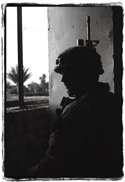 Silhouetted Soldier