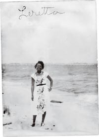 Woman, Wearing Dress, on a Beach