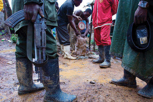The Congolese army controls the weigh stations, and extortion is rampant