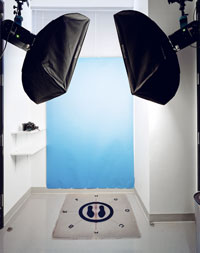 A photo booth used to photograph cosmetic surgery patients before their procedures