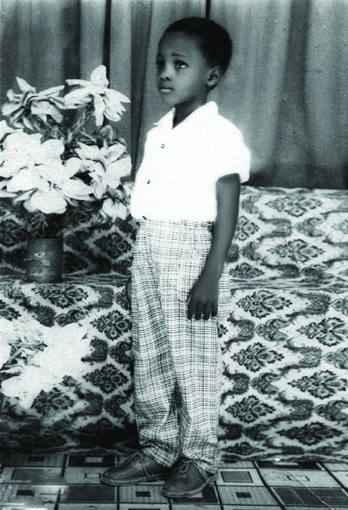 The author in his youth. 