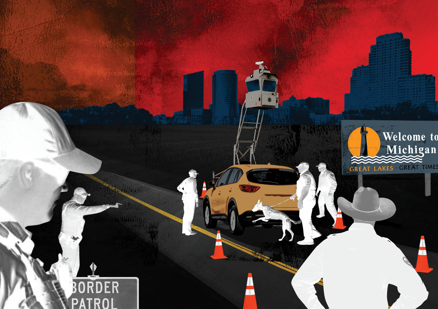 border patrols obscure omnipresent 100 mile zone by rachael maddux illustrations by john ritter