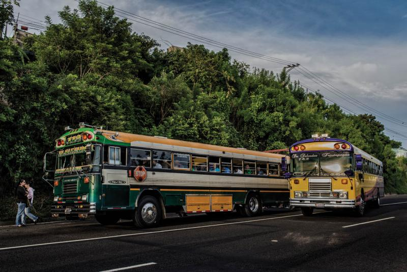 The nationwide terrorizing of bus drivers by gangs led to a violent crackdown by the Salvadoran government in 2016. By Juan Carlos.