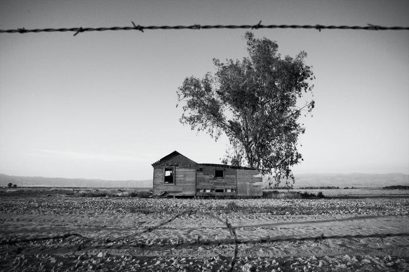 A relic of the Dust Bowl era along East Bear Mountain Road. Kern County, CA.