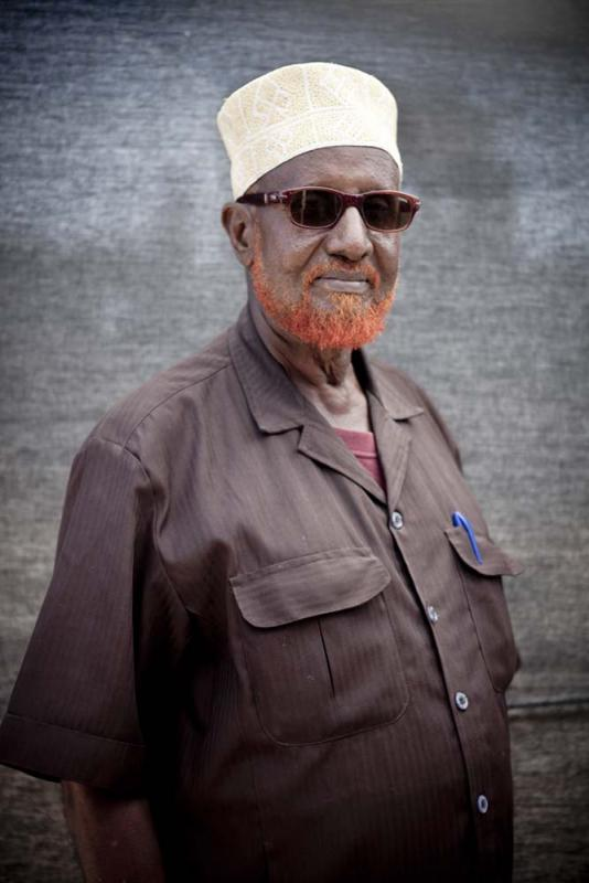 Moalin Adualle Ali, 66 — I've been the Chairman of Dharkeynley District since 1991. I believe about ninety percent of Mogadishu is safe now from al Shabaab. The biggest security problem today is banditry by rogue elements in the TFG and local militias. My main responsibility currently is overseeing the K7 IDP camp in my district, where we have about 30,000 people now who have come from areas many hundreds of kilometers away to escape the famine and fighting.