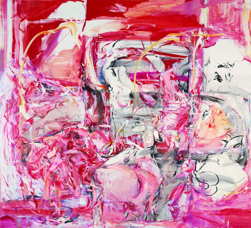 Cecily Brown, <i>The Girl Who Had Everything,</i> 1998. Oil on linen, 100 x 110 inches.  (© Cecily Brown. Courtesy Gagosian Gallery. Photography by Robert McKeever.)