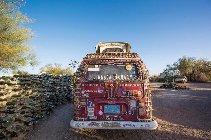 Slab City's artistic side: installations and sculptures in the East Jesus section of town.