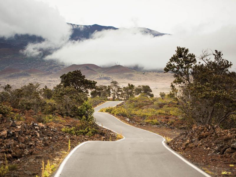 Road approaching Mauna Kea, 2012. (Grant Kaye)