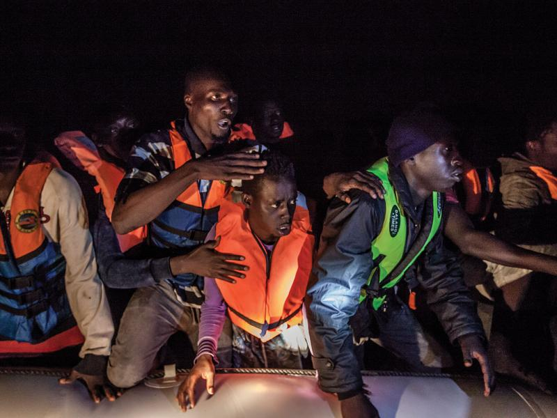 West African migrants discovered near the Bouri offshore field.