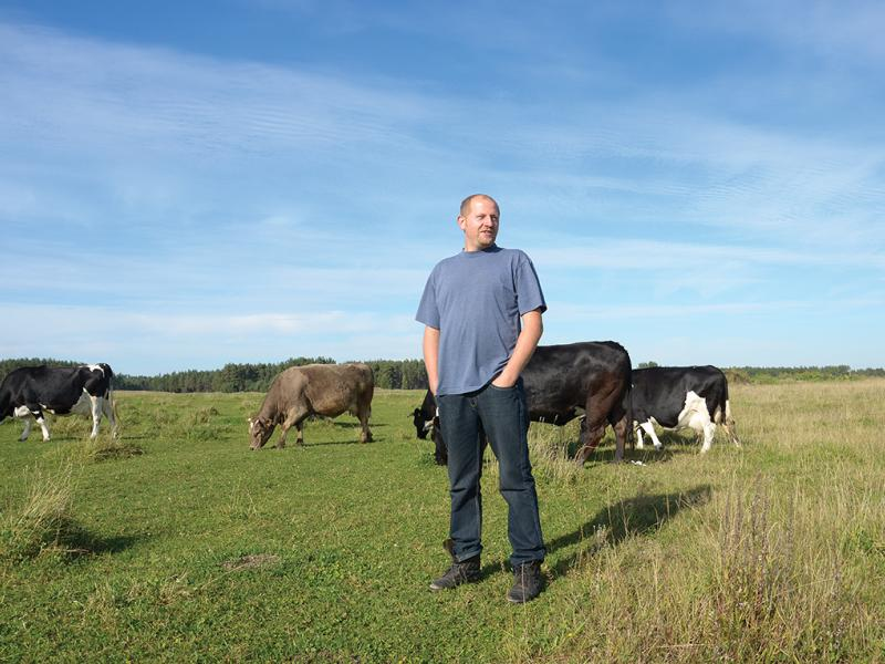 Edward Sawicki on his ancestral farm in the hamlet of Ogonki, Poland.