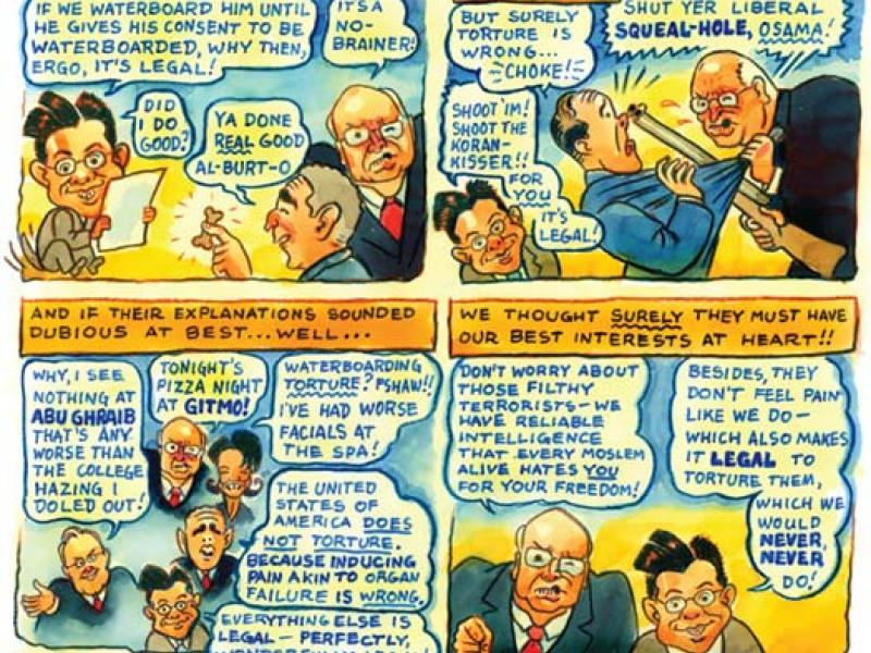 Cartoon by Ross MacDonald