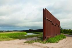 The border fence, Rio Grande Valley, Texas.