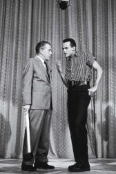 Belafonte with Ed Sullivan, mid-1950s. (Everett Collection)